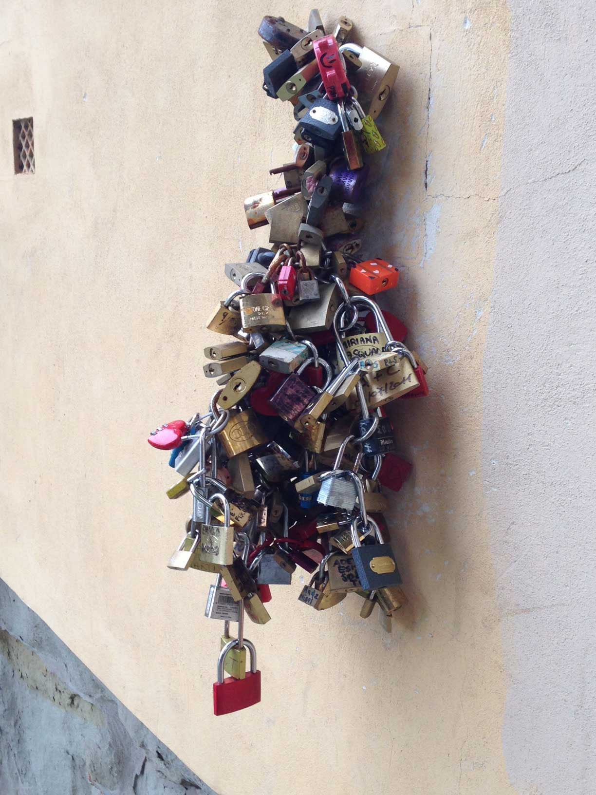 locks on a wall